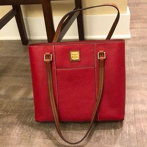Dooney & Bourke red leather shoulder bag